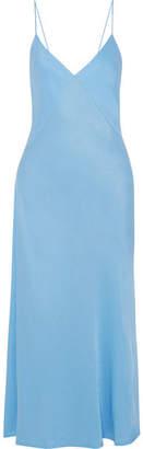Victoria Beckham Satin-crepe Midi Dress - Blue