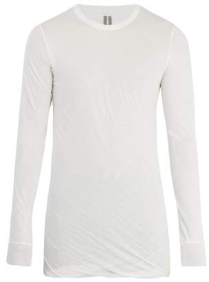 Rick Owens Long Sleeved Cotton Jersey T Shirt - Mens - White