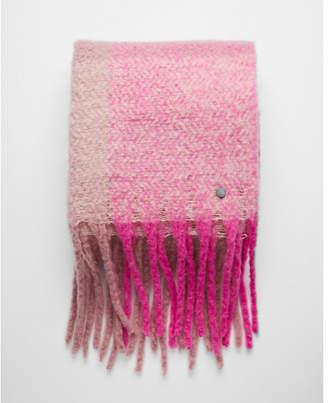Express striped plaid fringe blanket scarf