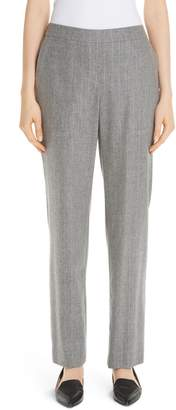 Lafayette 148 New York Fulton Stretch Flannel Wool & Cashmere Pants