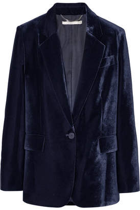 Stella McCartney Oversized Velvet Blazer - Navy