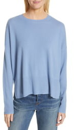 Nordstrom Signature Side Vent Silk & Cashmere Crewneck Sweater