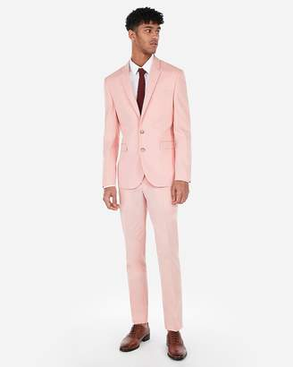 Express Extra Slim Coral Stripe Stretch Suit Jacket
