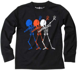 Wes And Willy Dab Skeletons T-Shirt