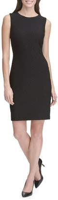 Tommy Hilfiger Tidal Knit Sleeveless Sheath Dress