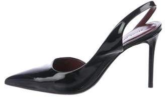 Celine Patent Leather Semi-D'Orsay Pumps