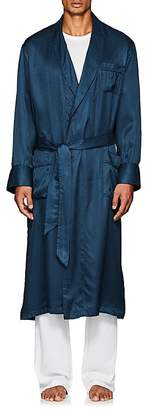 Derek Rose Men's Woburn Striped Silk Satin Robe