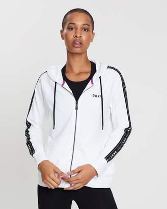 DKNY Hooded Zip-Up Sweatshirt
