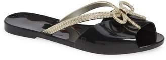 Melissa Ela Chrome Slide Sandal