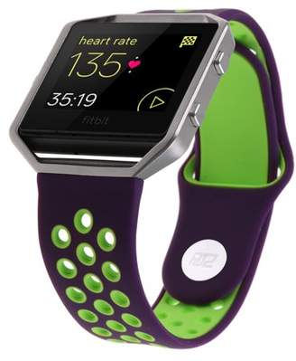 """Fitbit Blaze Bands with Silver Frame Small & Large (5""""- 8""""), HJZ Sport Silicone Replacement Band Strap for Blaze smart fitness"""