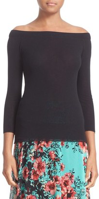 Women's Fuzzi Tulle Boatneck Top $225 thestylecure.com