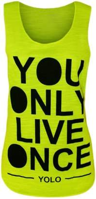 VIP Womens Sleeveless Yolo Vest Top (M8) (4/6 (uk 8/10), )