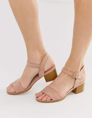 Miss KG scallop block heeled sandal