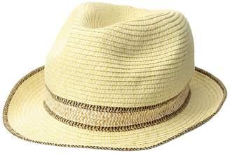 Calvin Klein Marled Straw Fedora Fedora Hats
