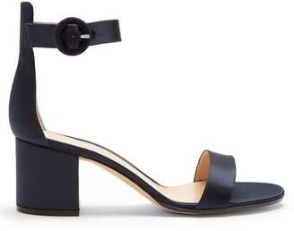 Gianvito Rossi Versilia 60 block-heel satin sandals