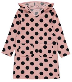 George Pink Polka Dot Long Sleeve Towel Dress