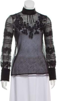 Valentino Long Sleeve Lace Top