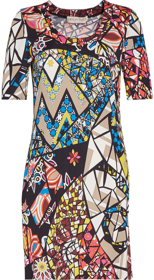 Emilio Pucci Emilio Pucci Printed stretch-jersey mini dress