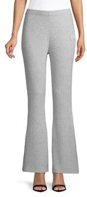 Lord & Taylor Ribbed Flare Cashmere Pants