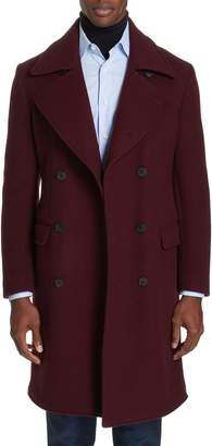 Eidos Double Breasted Wool & Cashmere Overcoat