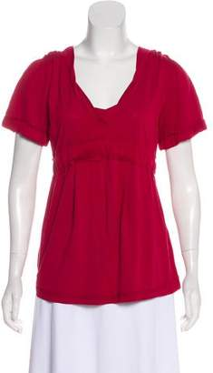 Marc by Marc Jacobs Short Sleeve V-Neck Top
