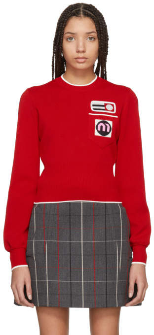 Red Patches Sweater