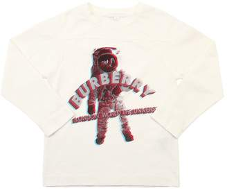 Burberry Spaceman Printed Cotton Jersey T-Shirt