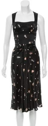 Giulietta Ocean Print Silk Dress