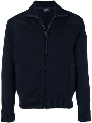 Paul & Shark knitted bomber jacket