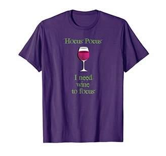 Hocus Pocus I Need Wine To Focus Funny Halloween Shirt