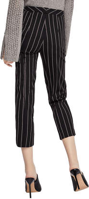 BCBGeneration Mid-Rise Striped Cropped Trousers