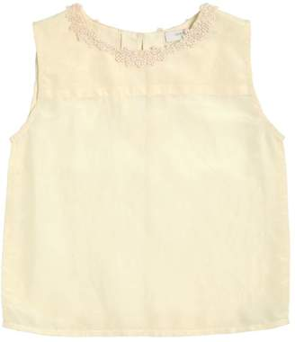 Caramel Baby And Child Cotton & Silk Muslin Top