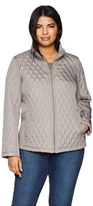 Weatherproof Women's Plus Size Modern Quilted Jacket with Stretch
