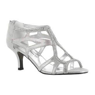 Easy Street Shoes Womens Flattery Pumps Zip Open Toe Spike Heel