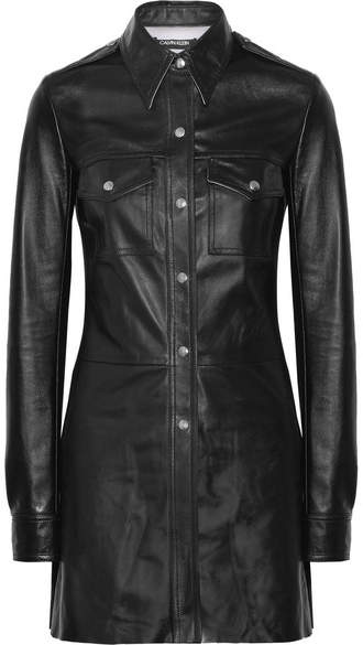 CALVIN KLEIN 205W39NYC - Leather Shirt - Black
