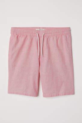 H&M Knee-length Cotton Shorts - Pink