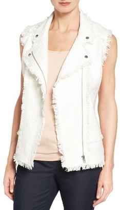 Petite Women's Halogen Fringe Tweed Vest $89 thestylecure.com