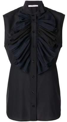 Givenchy Frilled Bib Sleeveless Blouse