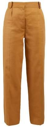 The Row Thea Panama Linen Trousers - Womens - Tan