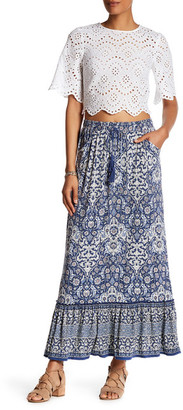 Max Studio Printed Flounce Maxi Skirt $88 thestylecure.com