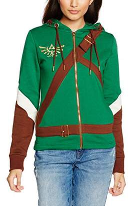 Bioworld Women's Nintendo Legend of Zelda Female Link Outfit Full Length Zip Hoodie,10 (Manufacturer Size: S)
