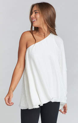 Show Me Your Mumu Sonia Top ~ Snow Cheetah Silky