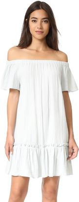 Rebecca Taylor Off Shoulder Gauze Dress $275 thestylecure.com