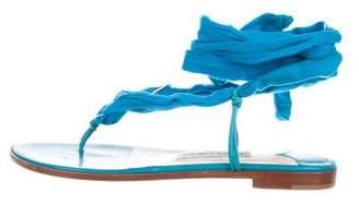 Jimmy Choo Suede Wrap-Around Sandals