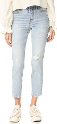Levi's Wedgie Icon Selvedge Jeans $158 thestylecure.com