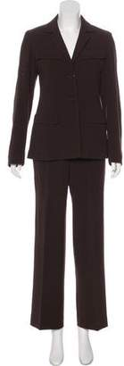 Max Mara Virgin Wool High-Rise Pantsuit