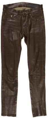 Rag & Bone Low-Rise Leather Pants