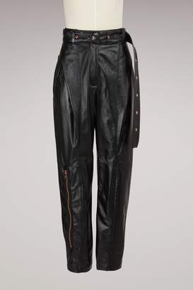Proenza Schouler Straight leather trousers