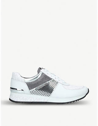MICHAEL Michael Kors Allie metallic leather trainers