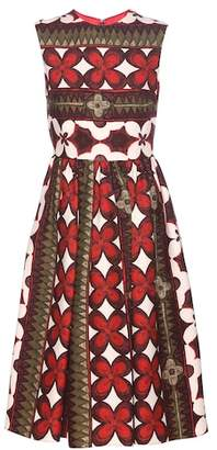 Valentino Printed wool and silk dress